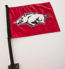 Arkansas Razorback Running Hog Car Flag