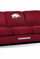 Imperial Arkansas Razorback Red Microfiber Sofa
