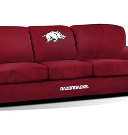 Imperial Razorback Red Microfiber Sofa - DS