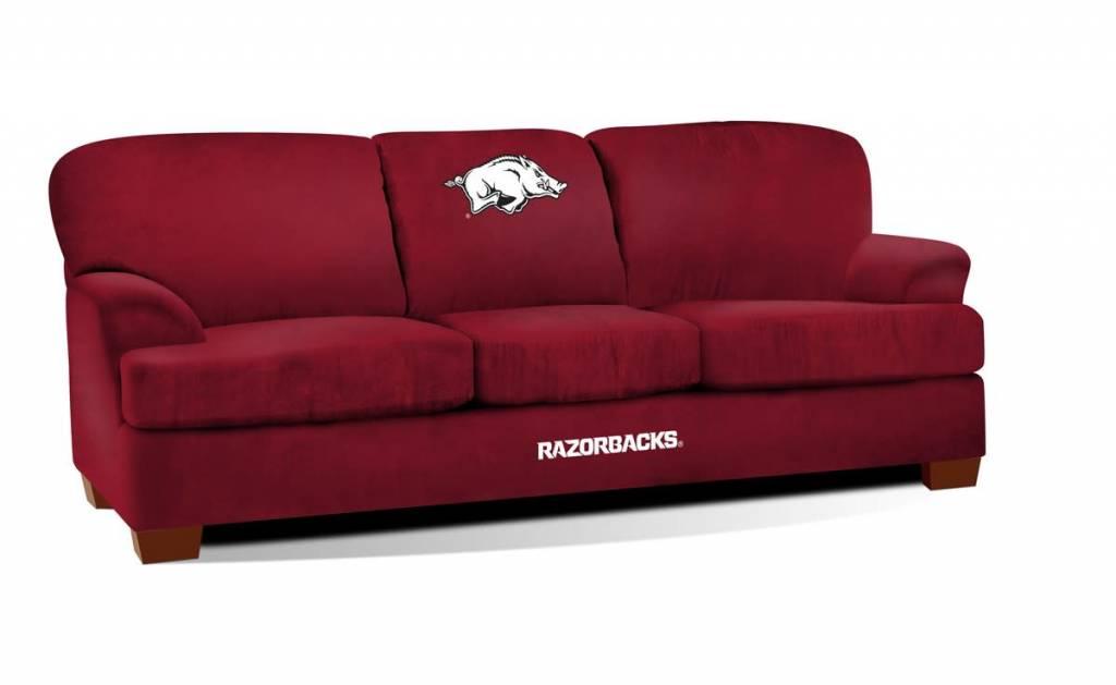 Arkansas Razorback Red Microfiber Sofa