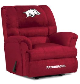 Imperial Razorback Red Microfiber Recliner - DS