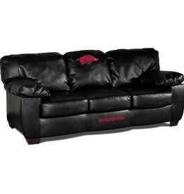 Razorback Black Leather Sofa - DS