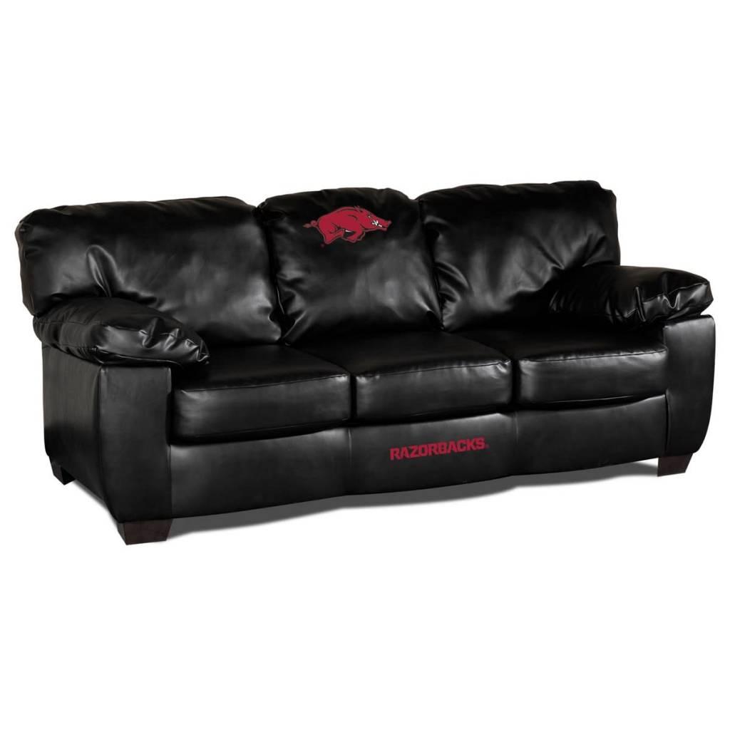 Razorback Black Leather Sofa