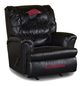 Imperial Razorback Black Leather Recliner DS