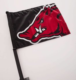 Razorback Black Car Flag
