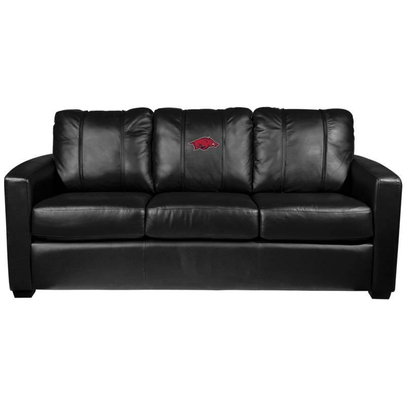 Dream Seat Arkansas Razorback Silver Series Sofa