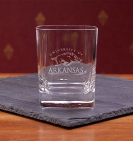 Campus Crystal Crystal Square Round DOF Glass Etched U of A
