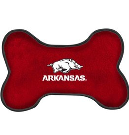 All Star Dog Razorback Dog Bone Squeak Toy