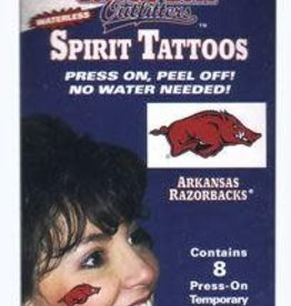 Jenkins Enterprises Razorback Face Tattoo Running Hog