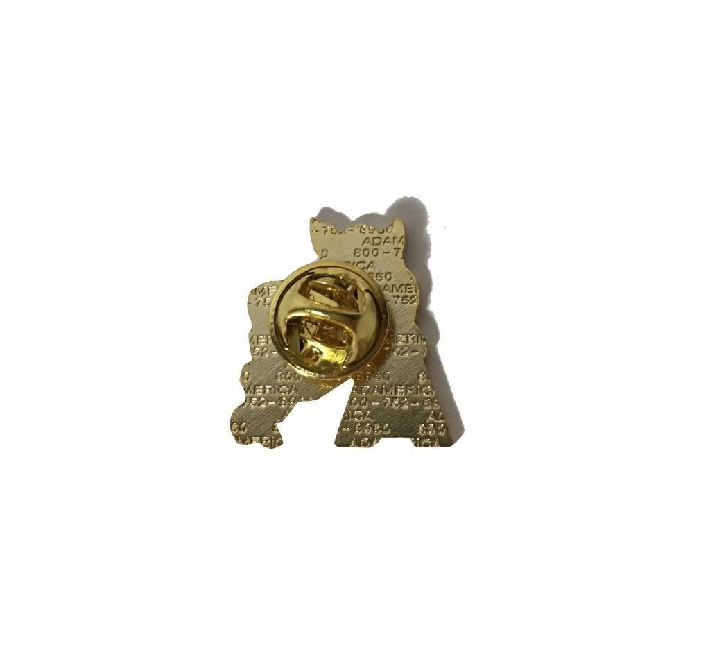 Lloyd Sales Retro Hog Leaning on the A hat / Lapel Pin