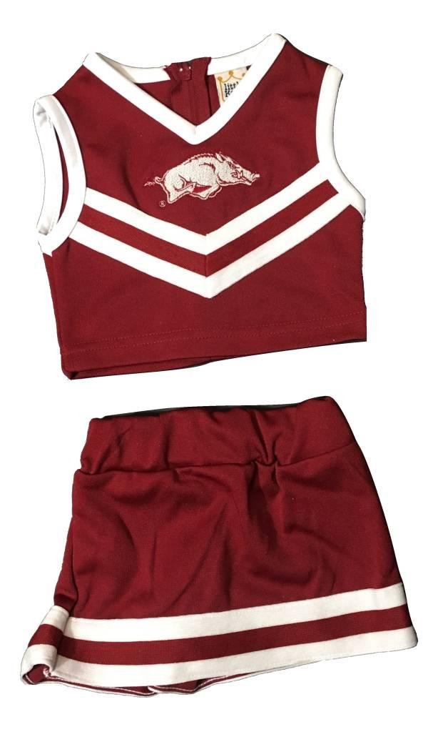 best sneakers 38926 febc1 Arkansas Razorbacks Cheerleader Outfit By Little King