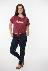 Flying Colors The Razorback Marni Front Tie Tee