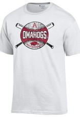 Champion Arkansas Razorbacks Youth OMAHOGS Cross bats Tee