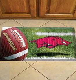 Fan Mats Razorback Football & Hog Scraper Mat