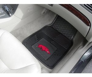 Fanmats Arkansas Razorbacks Heavy Duty Vinyl Car Mats