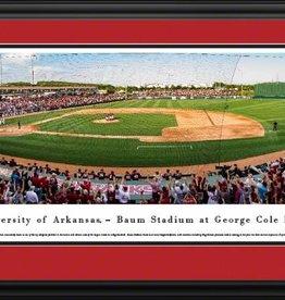 Blakeway Arkansas Razorback Baseball - Deluxe Frame