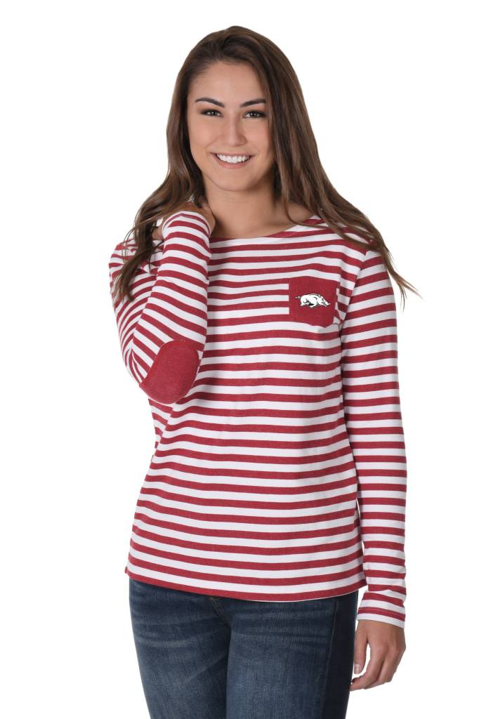 University Girls Women's Elbow Patch French Terry