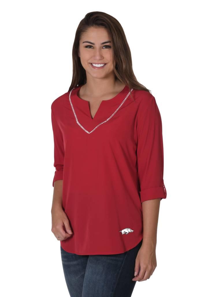 University Girls Women's Razorback Stitch Neckline Tunic