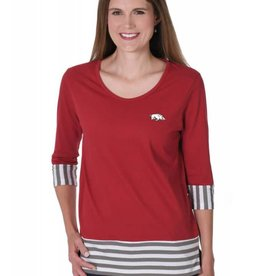 University Girls Women's Striped Colorblock Tee