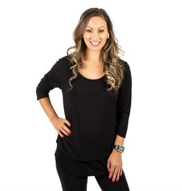 Britt nursing top in Black