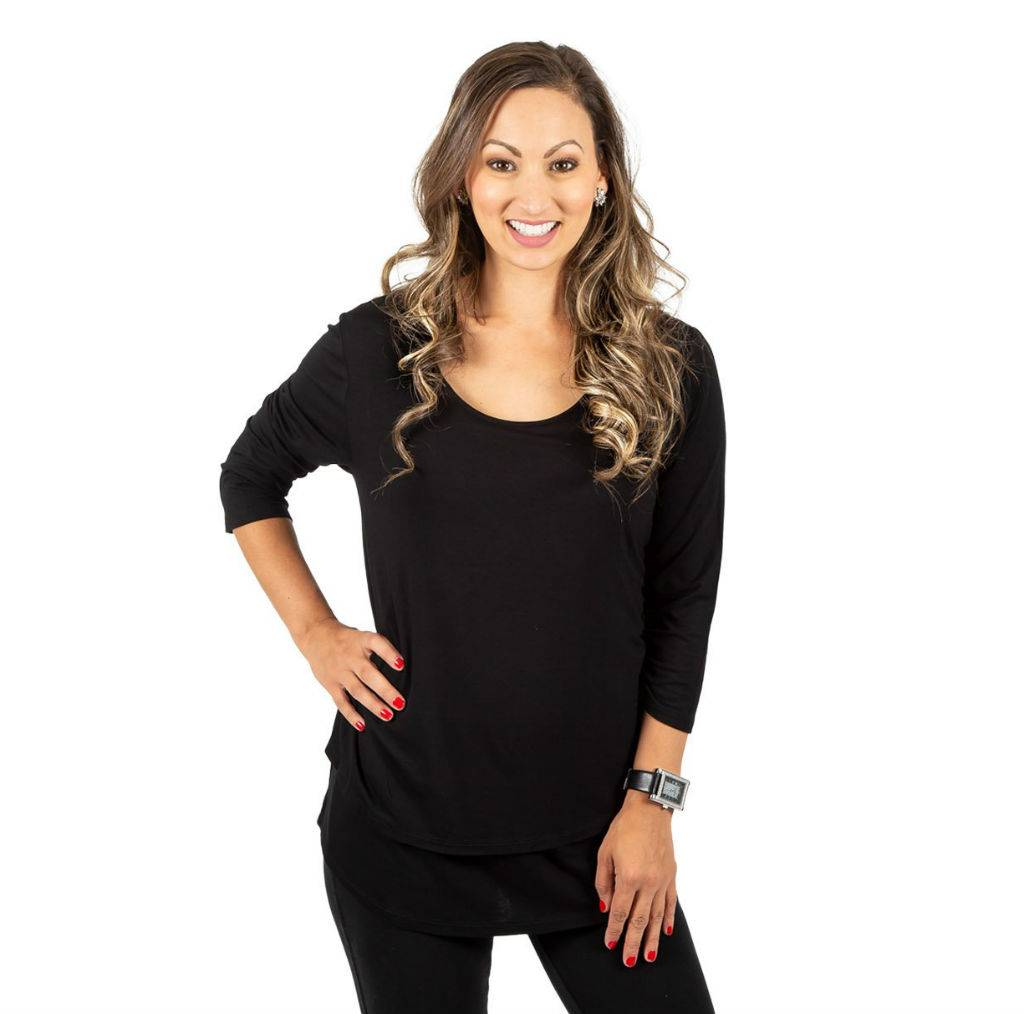 Momzelle Britt nursing top in Black