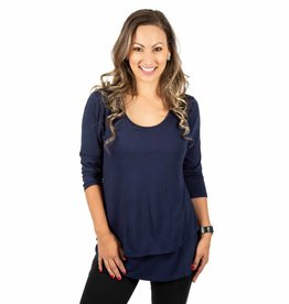 Britt nursing top in Deep Sea Blue