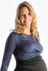 Lait De Poule LDP Twisted blue nursing top
