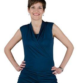 Josiane Steel Blue nursing top