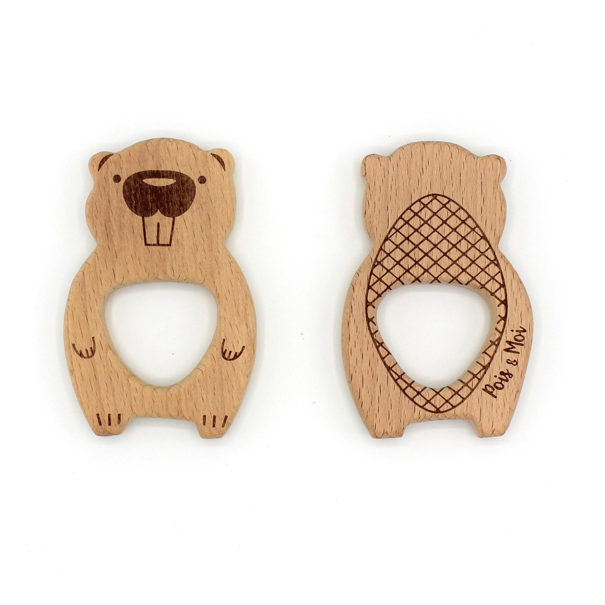 Pois et Moi Pois et Moi Wooden animal teether