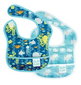 Bumkins Bib 2 pack - Sea Friends, Whales
