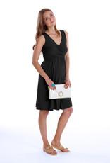 MEV Sleeveless wrap maternity nursing dress