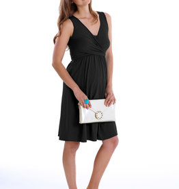 MEV Sleeveless wrap maternity nursing dress