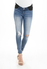 Maternity Jeans Distressed Light Demin