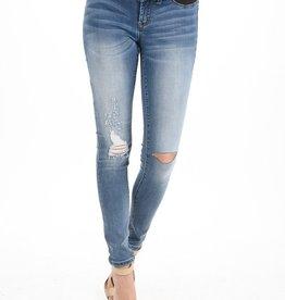 Maternity Jeans Distressed Light Demin