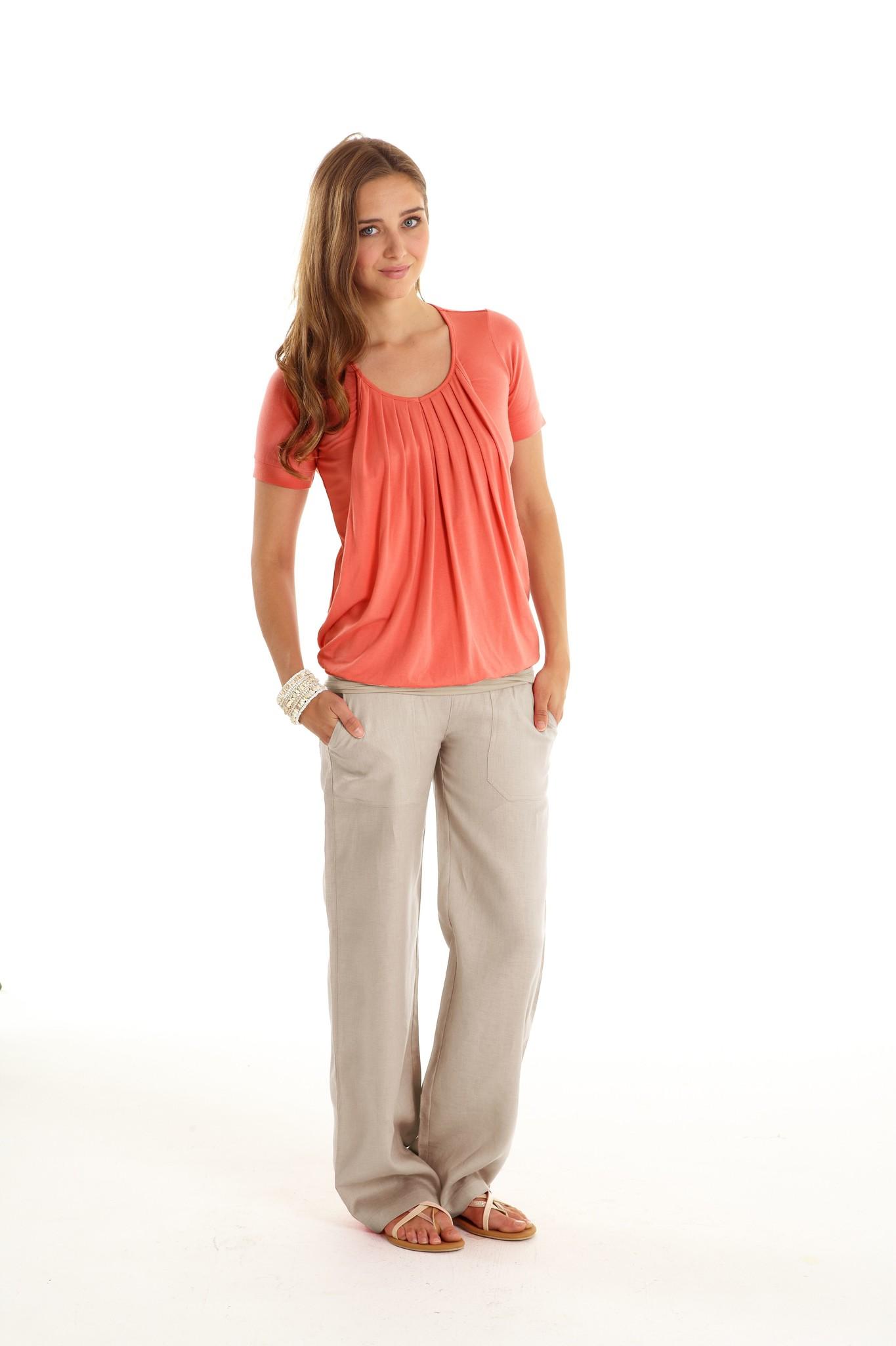 MEV Slouchy maternity linen pants