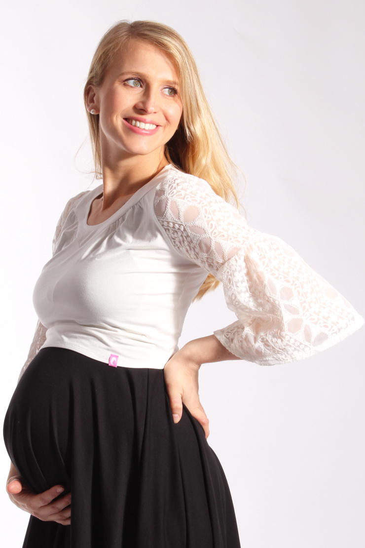 LDP Boho bamboo lace nursing top