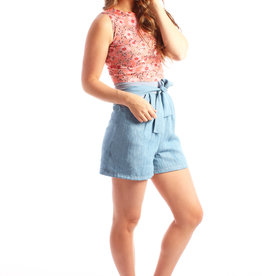 LDP Chambray high waisted shorts