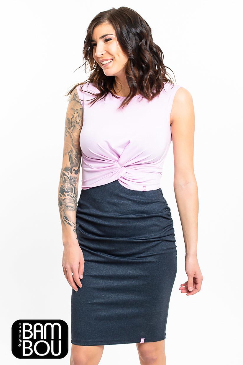 Lait De Poule LDP denim skirt base dress