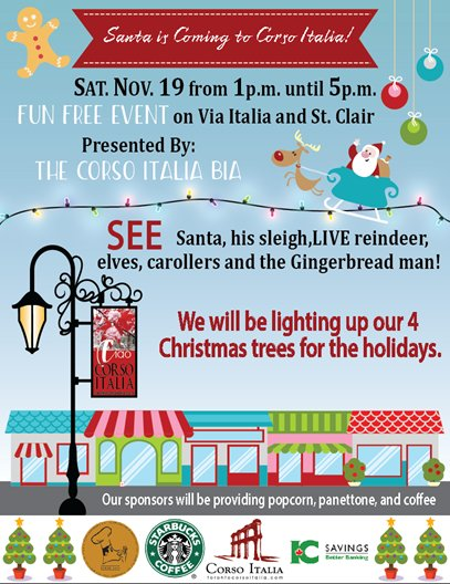 Tree lighting November 19th, 1-5 pm! Meet Santa & his reindeer!
