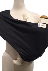 Maman Kangourou Stretchy Pouch baby carrier - Charcoal