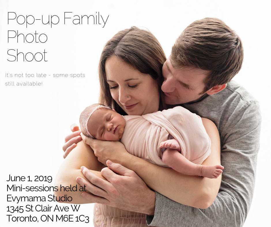 Family Photo Shoot, June 1st
