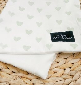 Maovic Toddler pillow cover Mint Hearts