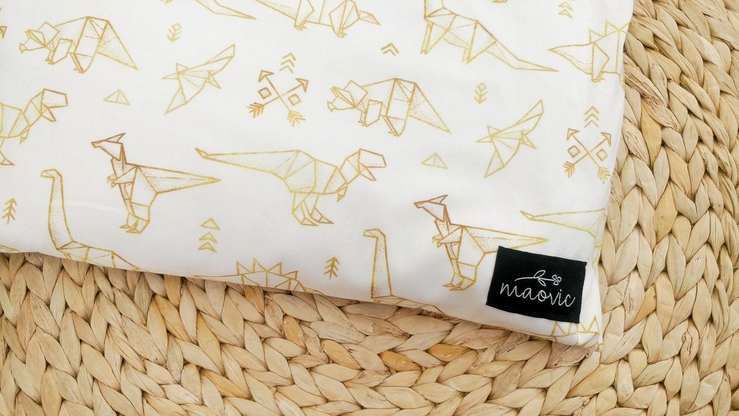 Maovic Buckwheat toddler pillow Dino Origami