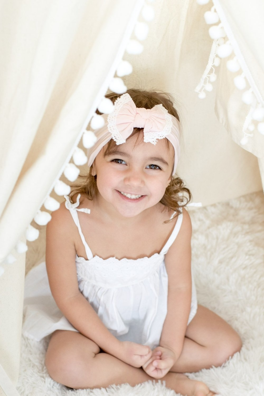 Mini Bretzel Mini Bretzel Baby Headband Dahlia