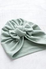 Mini Bretzel Mini Bretzel Baby bow turban hat bamboo