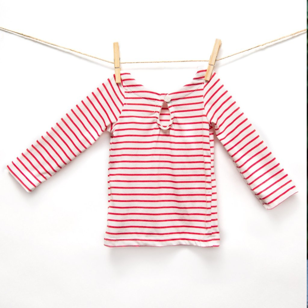 Isa Isa & Bella organic baby sailor stripe top