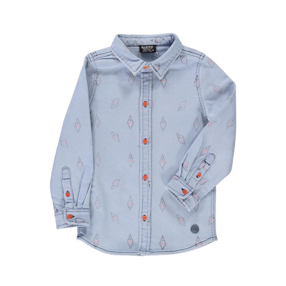 Birdz Birdz Danger denim shirt child