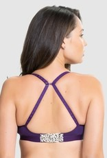 Charley M Buddy sporty t-shirt bra Purple