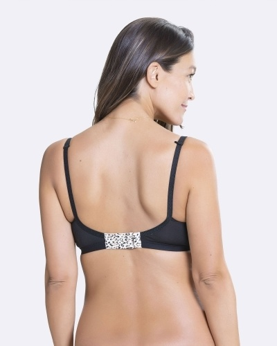 Empower balcony wire padded nursing bra black