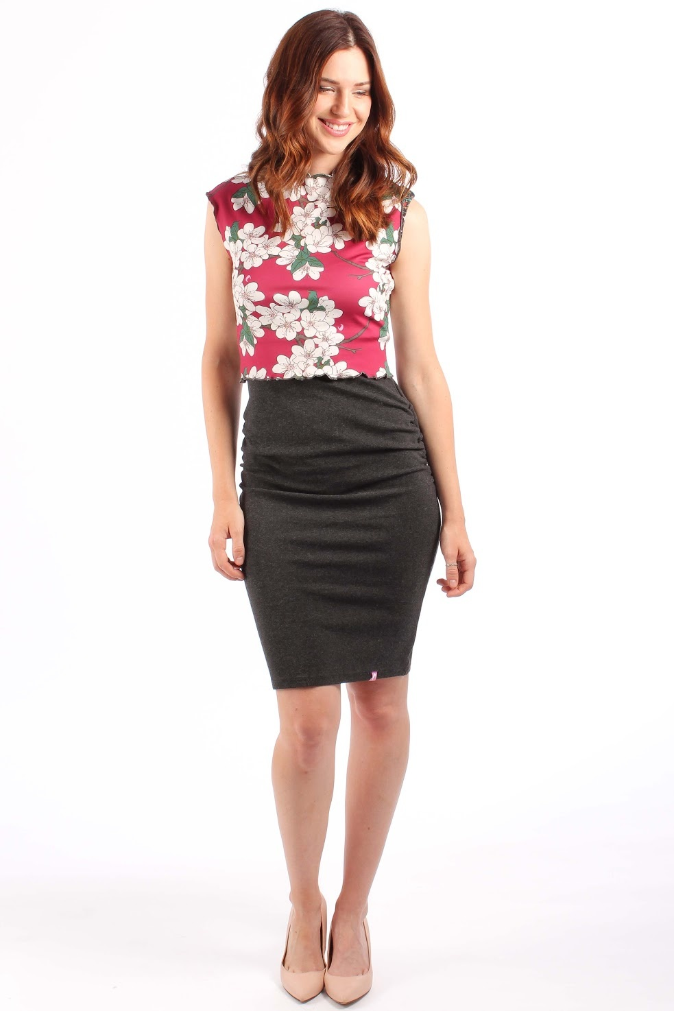 Lait De Poule LDP pencil skirt base dress grey
